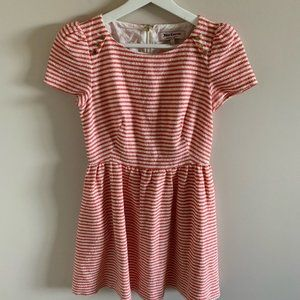 Juicy Couture Pink & White Striped Mini Dress